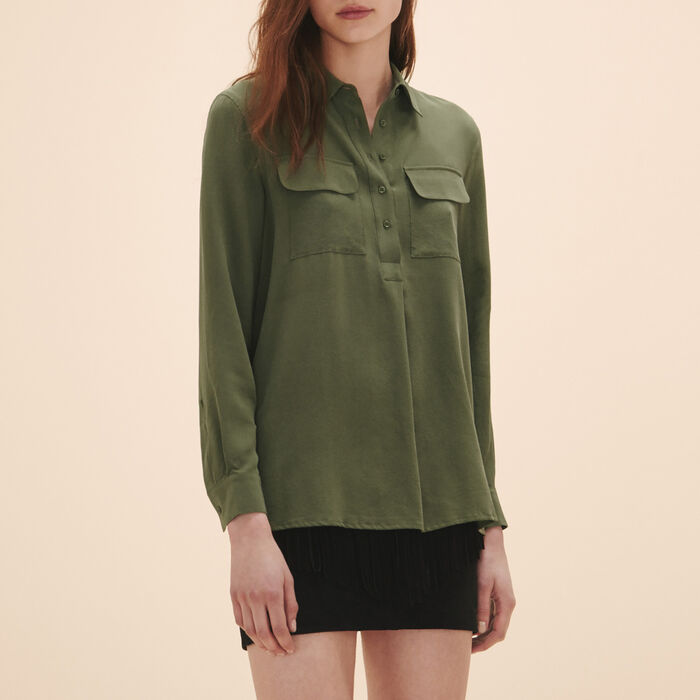 Silk blouse - Tops & Shirts - MAJE