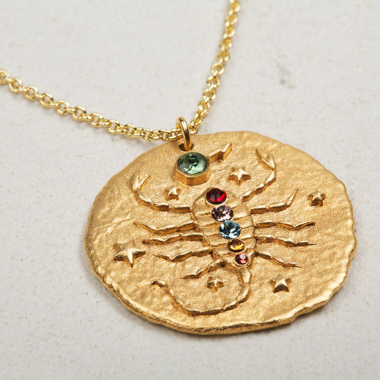 Scorpio zodiac sign necklace - Jewelry - MAJE