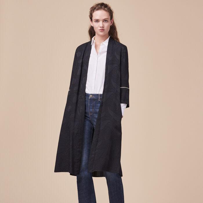 Floaty kimono-inspired coat -  - MAJE