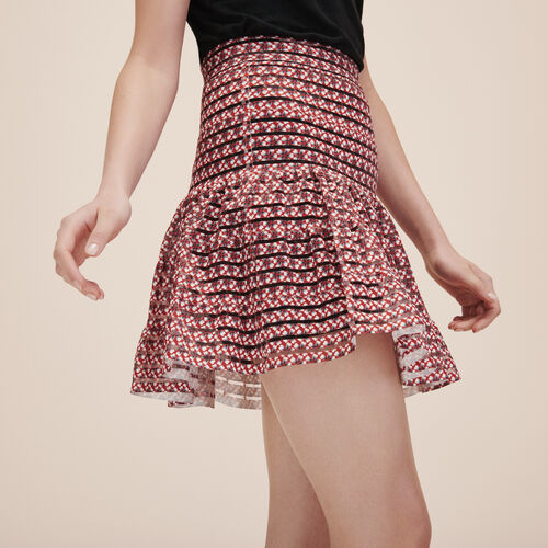 Skirt with elasticated bands - Skirts & Shorts - MAJE