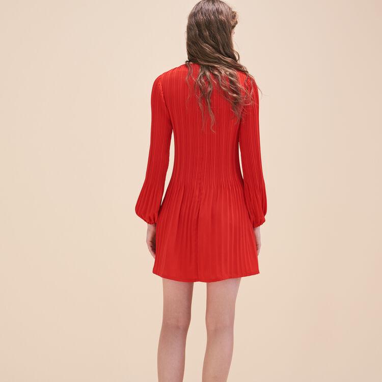 Pleated crêpe smock dress - Dresses - MAJE