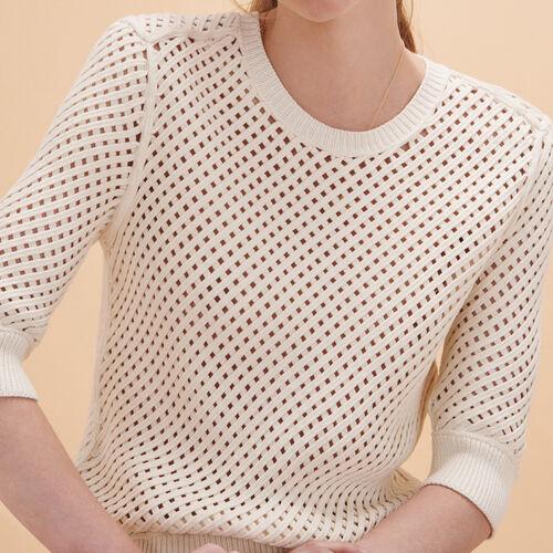 Pullover in maglia intrecciata - Maglieria - MAJE
