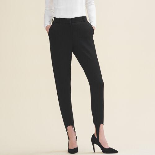 Elastic stirrup trousers - Trousers - MAJE