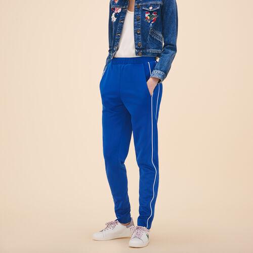 Pantalón estilo chándal - Pantalones - MAJE