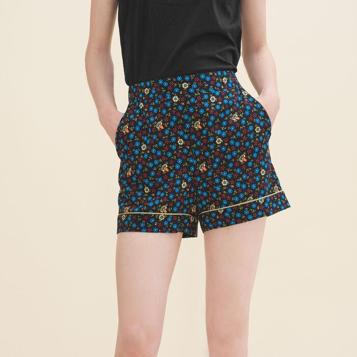 Short imprimé fleurs - Jupes & Shorts - MAJE