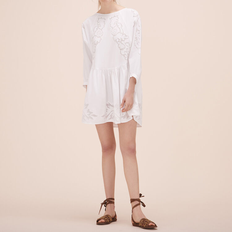 Loose-fitting dress with embroidery - Dresses - MAJE