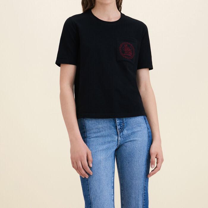 Cotton T-shirt -  - MAJE