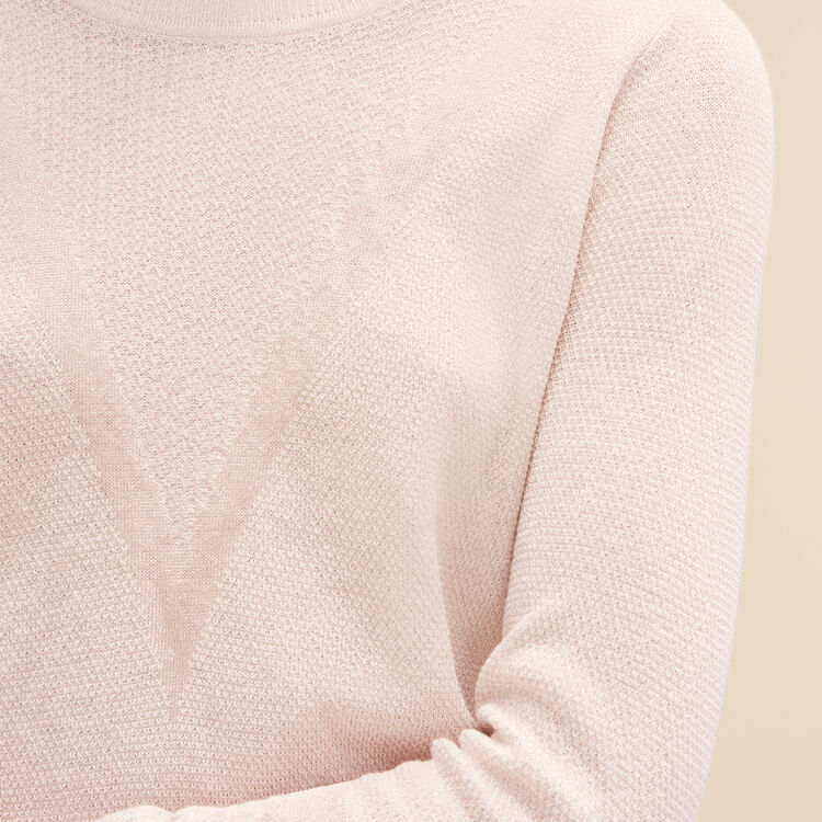 Fine knit jumper with lurex - Knitwear - MAJE