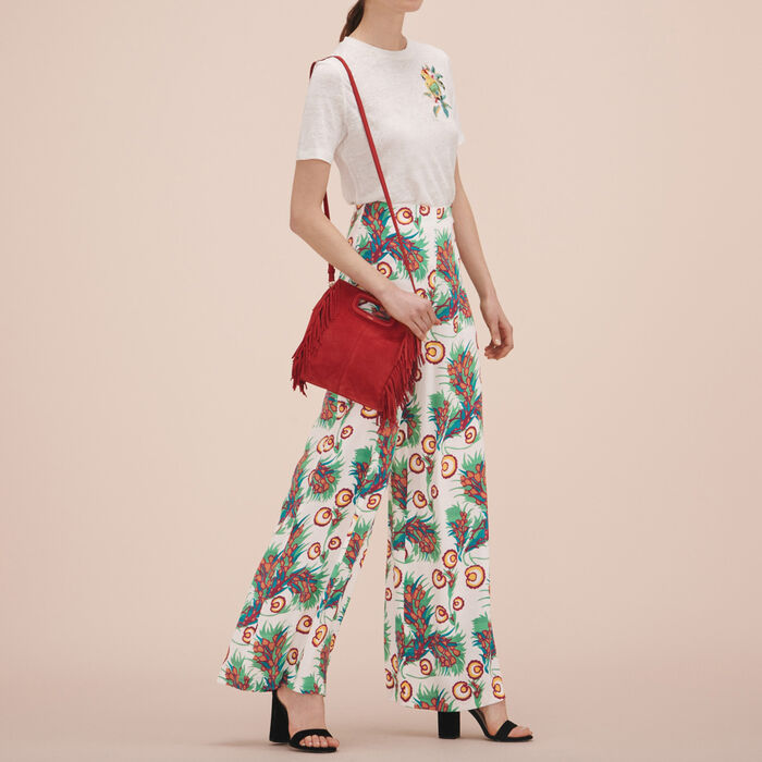 Printed wide-leg trousers -  - MAJE