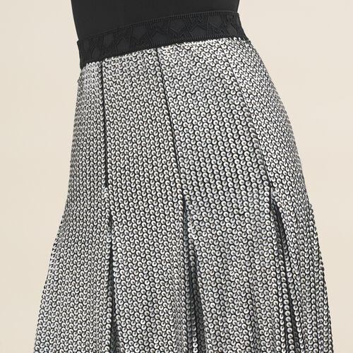 Midi sequinned skirt - Skirts & Shorts - MAJE