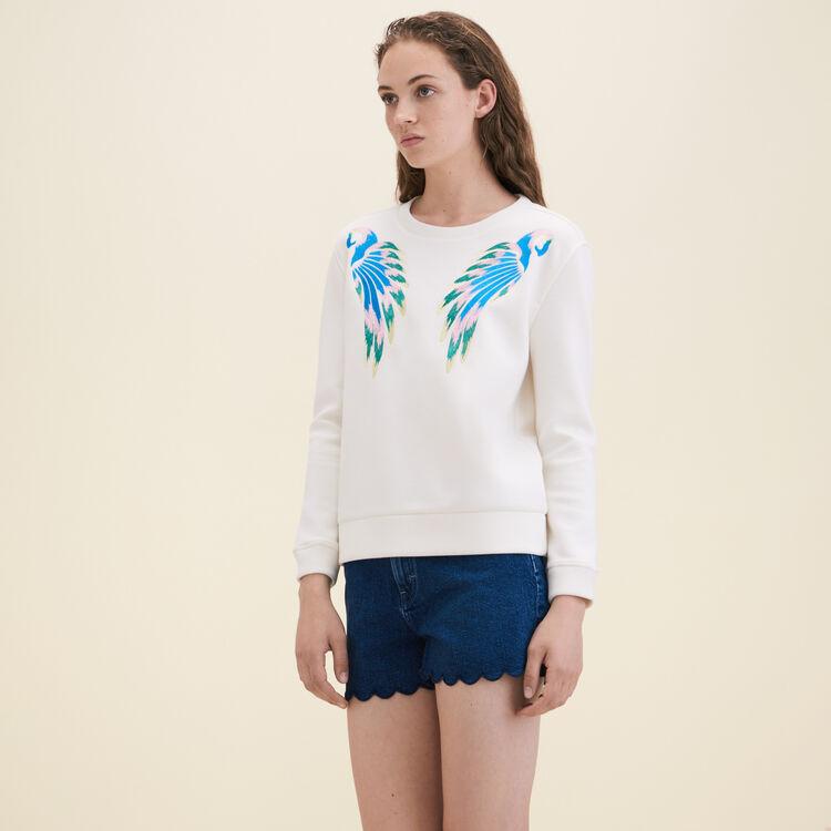 Embroidered sweatshirt - Knitwear - MAJE