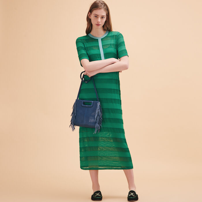 Long knitted string dress - Dresses - MAJE