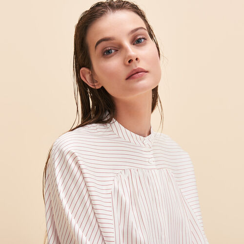 Floaty striped shirt - Tops - MAJE