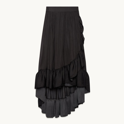 Long skirt with frills - Skirts & Shorts - MAJE