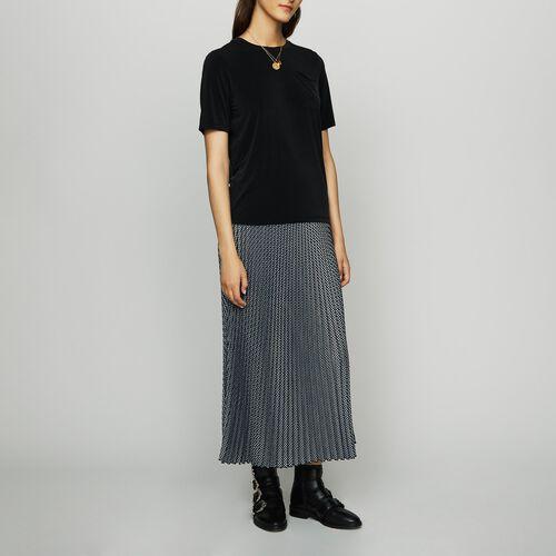 Tee-shirt in cupro - Tops - MAJE