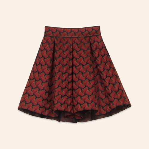 Bonded lace skater skirt - Skirts & Shorts - MAJE