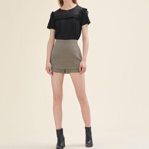 Short checked shorts - See all - MAJE