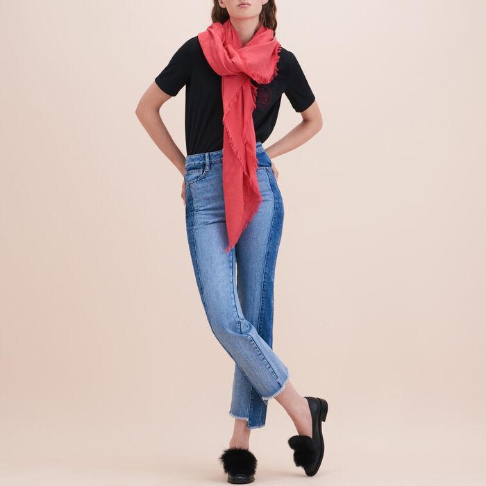 Cotton blend  shawl -  - MAJE