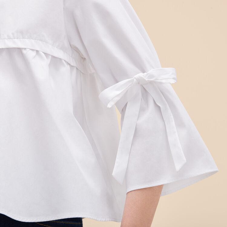Cotton poplin top - Tops & T-Shirts - MAJE