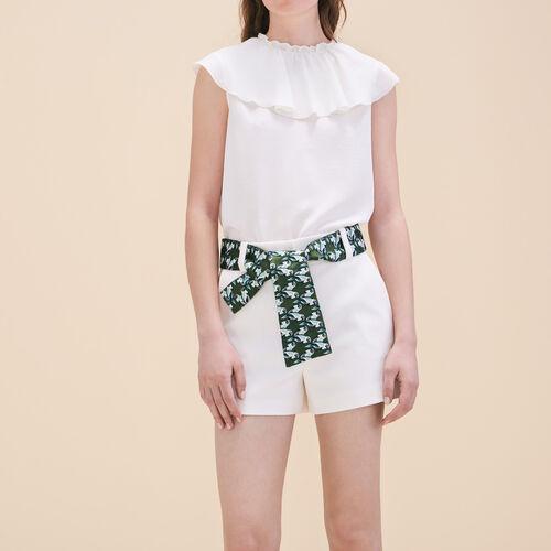Short con cinturón de jacquard - Faldas y shorts - MAJE