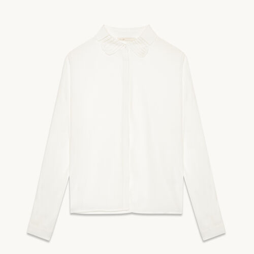 Silk blend shirt - Tops & T-Shirts - MAJE