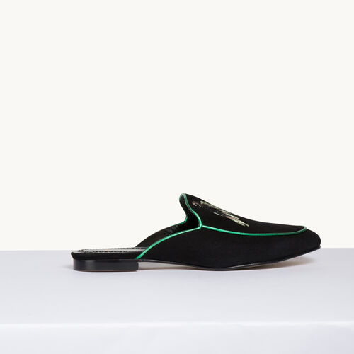 Velvet slipper - Shoes - MAJE