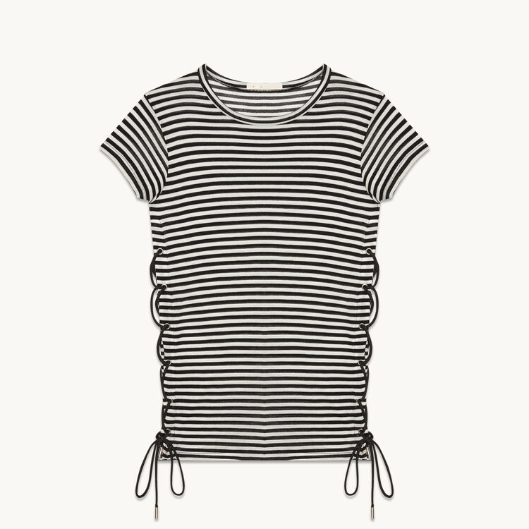 Sailor T-shirt with braiding - Tops - MAJE