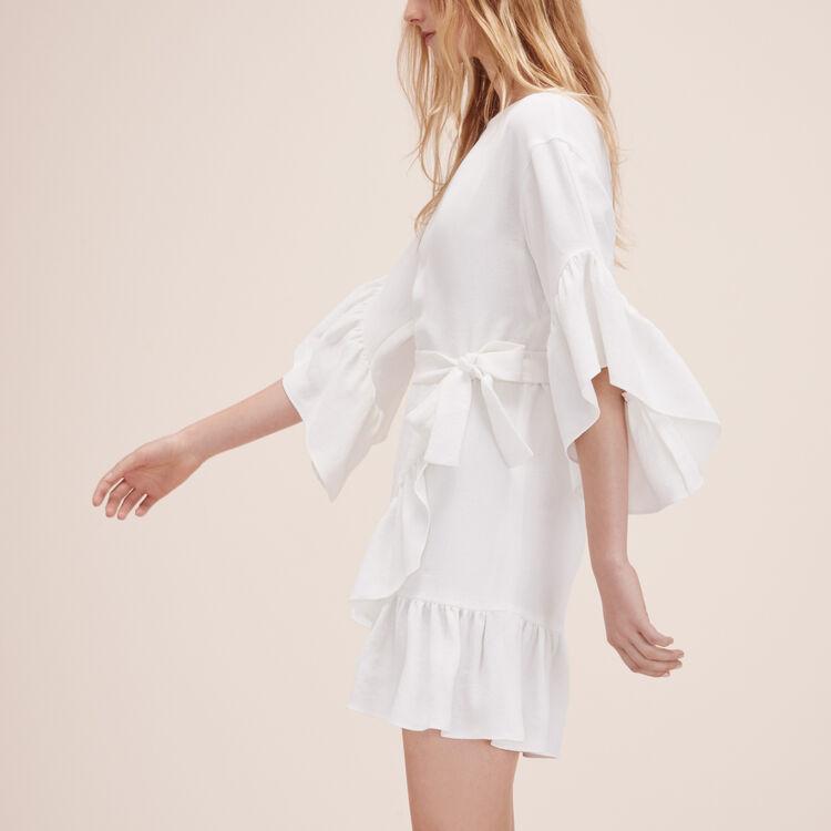 Robe courte avec volants - Robes - MAJE