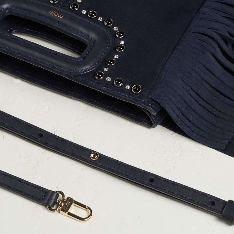 Suede bag with studs -  - MAJE