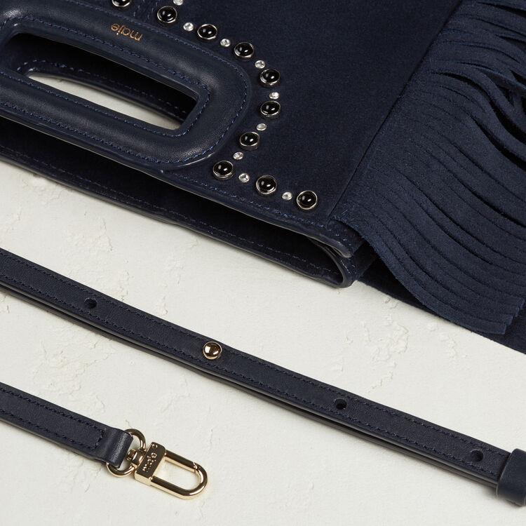 Suede bag with studs - M bag - MAJE