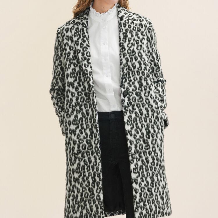 Redingote à motif léopard - Manteaux - MAJE