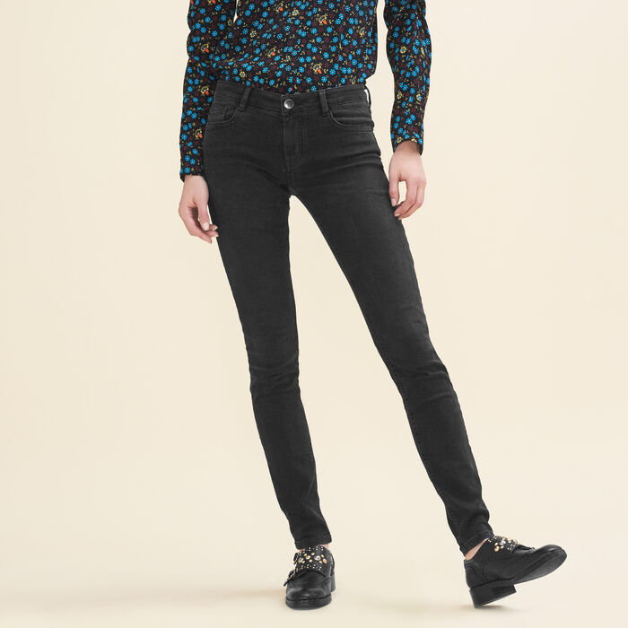 Stretch cotton skinny jeans -  - MAJE