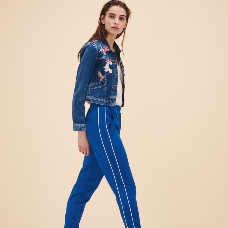 Sportswear-inspired trousers - Pants & Jeans - MAJE