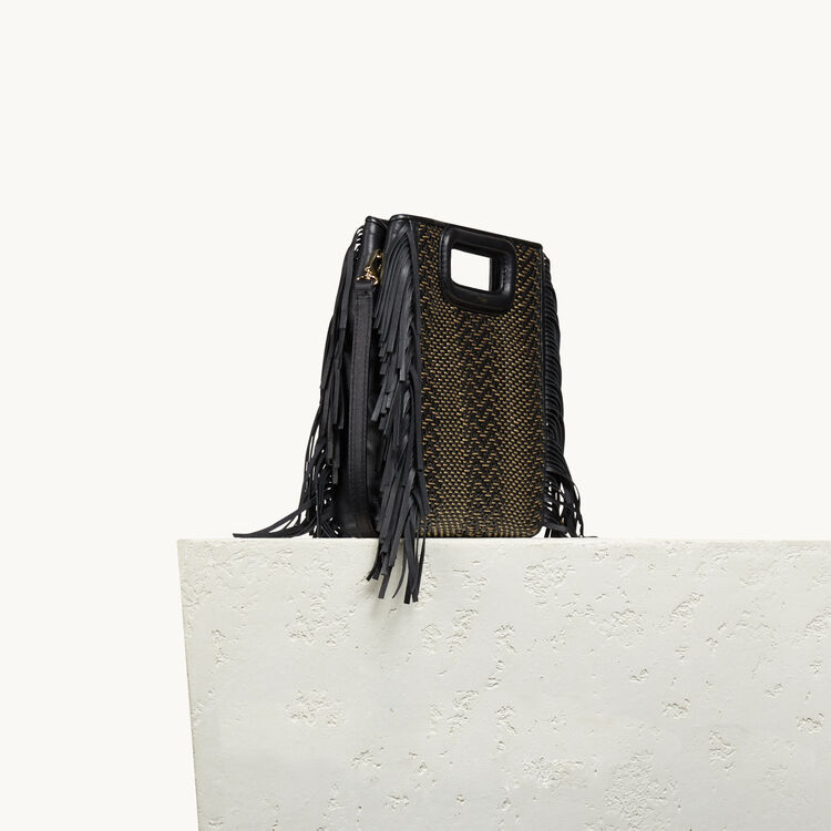 Leather M bag with braiding - M bag - MAJE