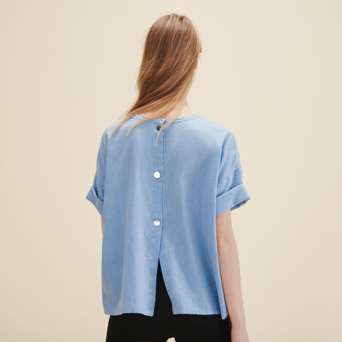 Brushed cotton top - Tops & Shirts - MAJE
