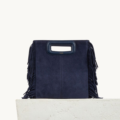 Suede leather bag with fringing - All bags - MAJE
