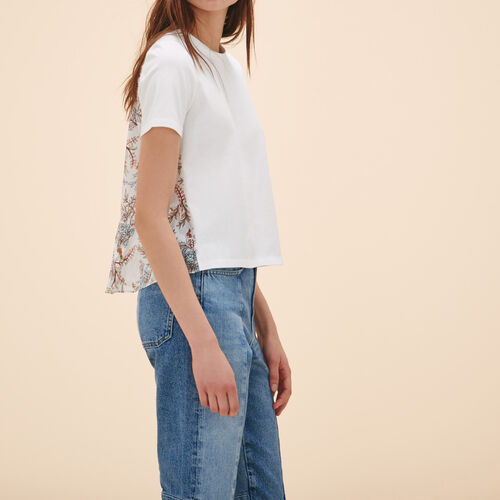 T-shirt with print at the back - Tops & Shirts - MAJE
