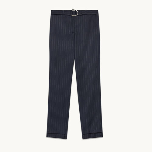 Tailored trousers with tennis stripes - Pants & Jeans - MAJE