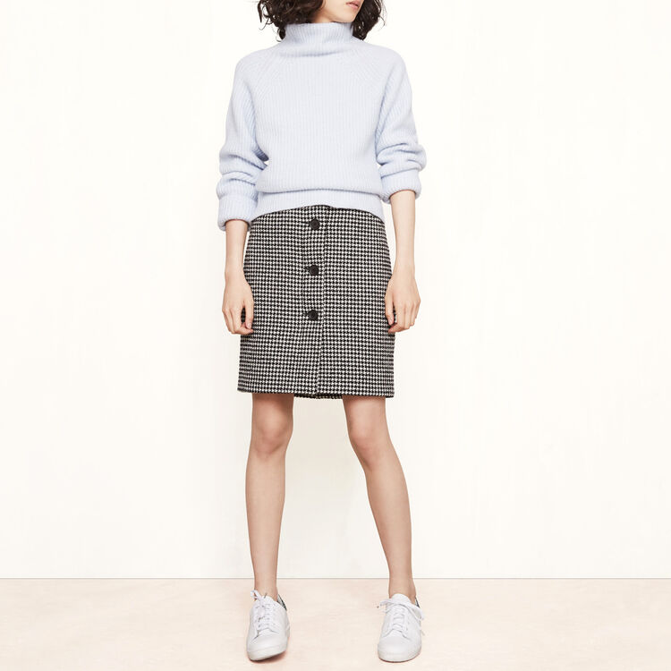Knitted roll-neck jumper - Knitwear - MAJE