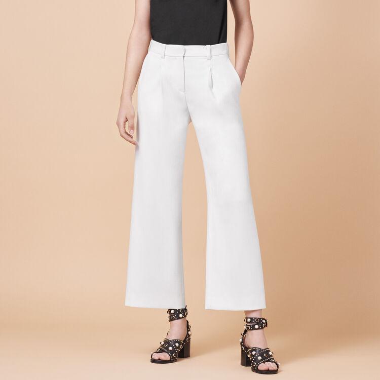 Pantalon large à pinces - Pantalons - MAJE