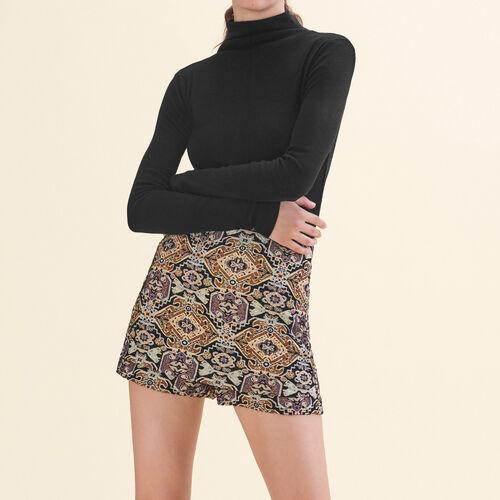 Cropped jacquard shorts - See all - MAJE