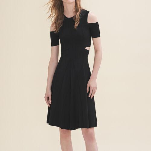 Knitted off-the-shoulder dress - Dresses - MAJE