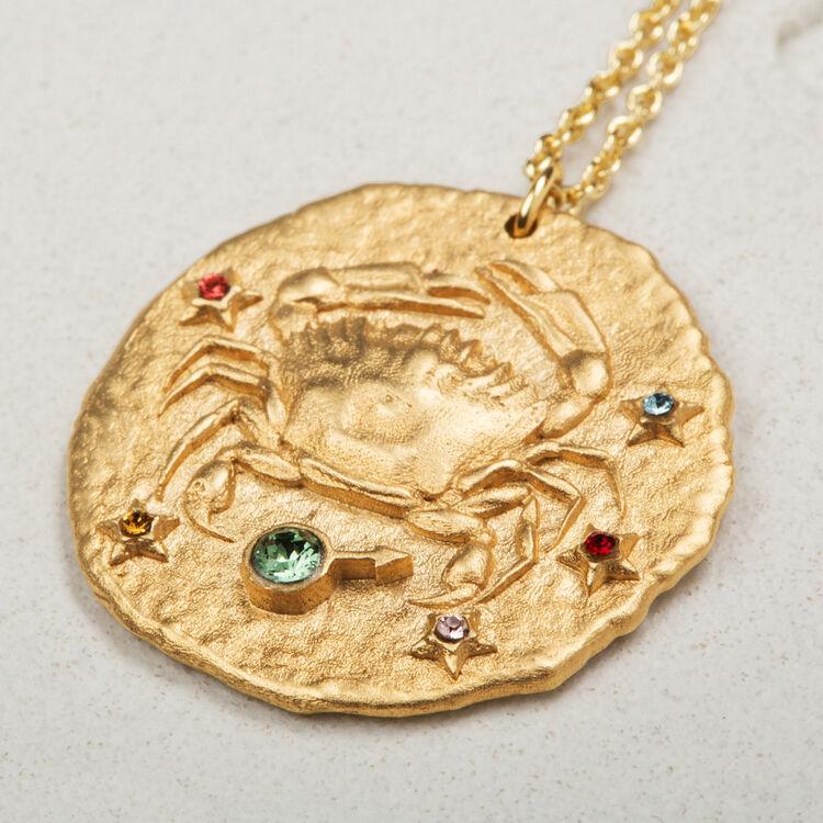 Cancer zodiac sign necklace -  - MAJE