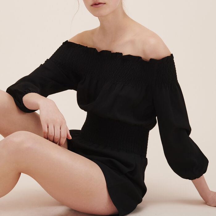 Playsuit with smocking -  - MAJE