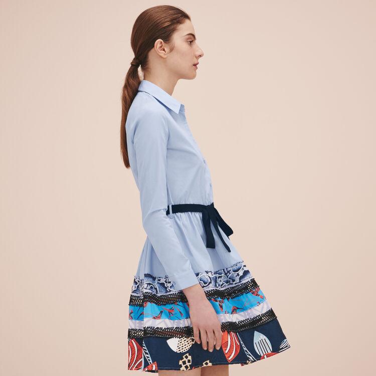 Poplin shirt dress - Dresses - MAJE