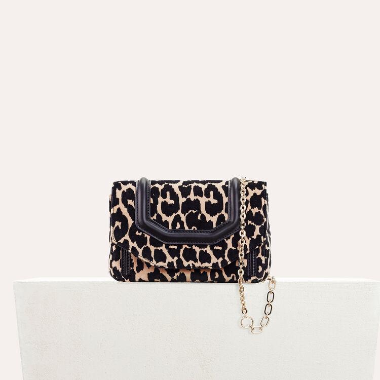 Sac evening imprimé léopard - Sacs porté épaule - MAJE