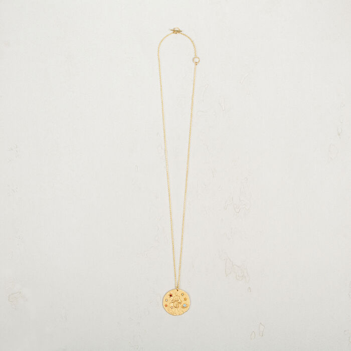 Aquarius zodiac sign necklace -  - MAJE