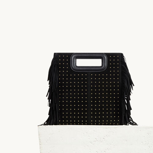 Studded leather bag with fringing - See all - MAJE