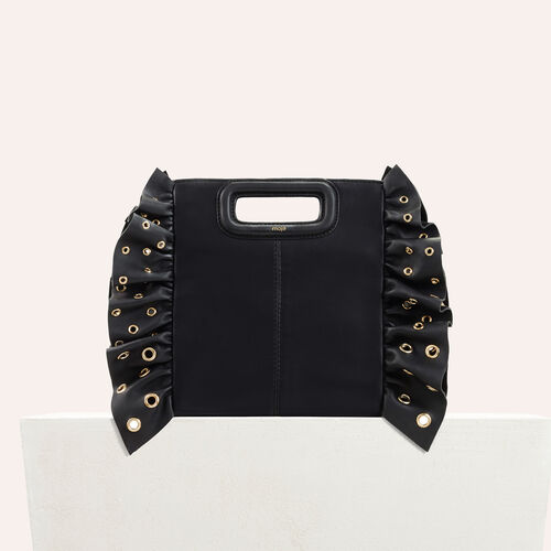 Leather bag with frills - All bags - MAJE
