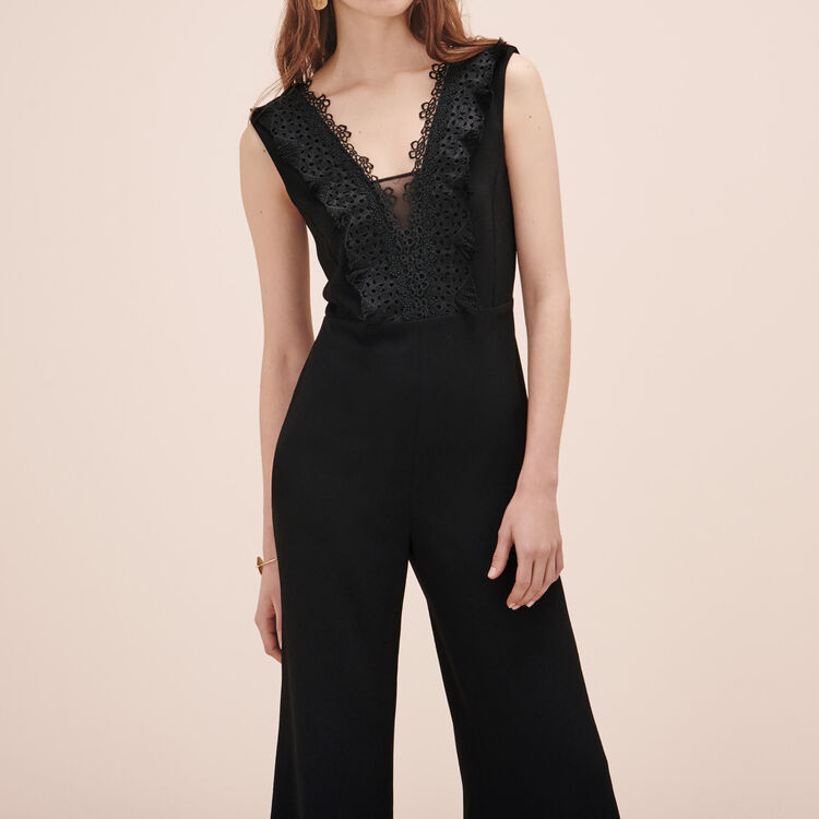 Jumpsuit with embroidery - Pants & Jeans - MAJE